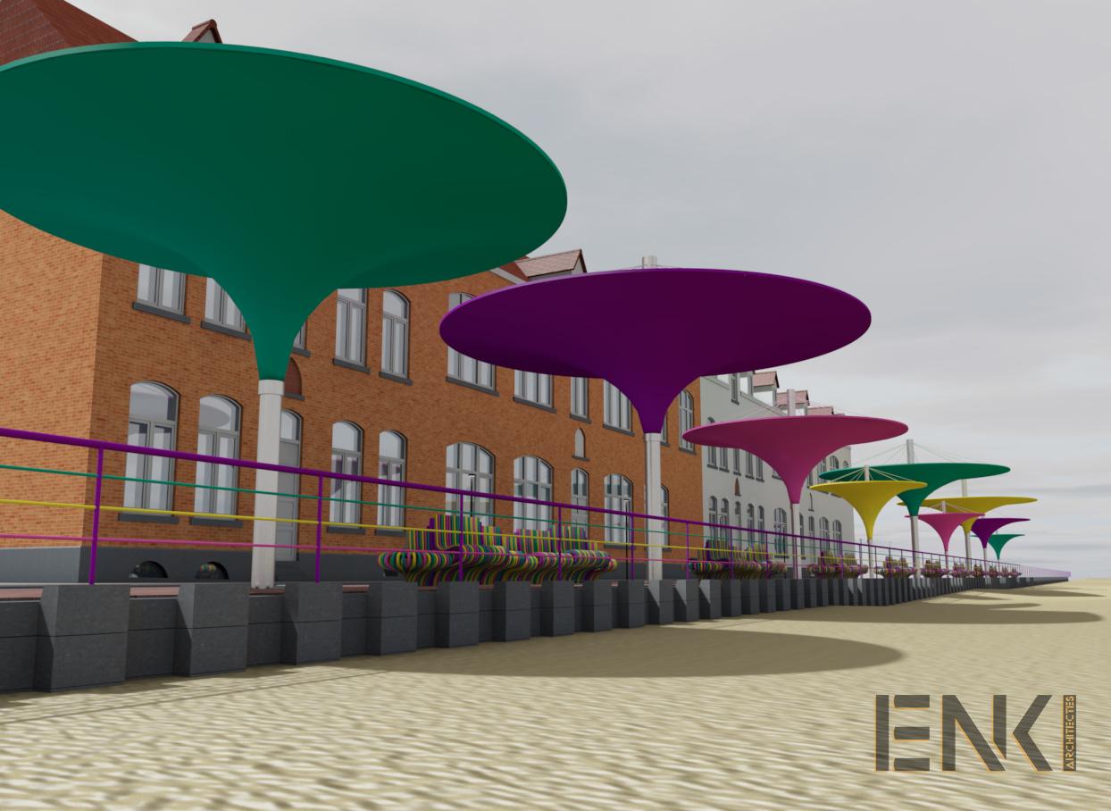 ENKI - MOBILIER URBAIN- préau plage couleur - Image2